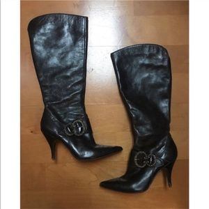 Nine West brown knee high boots size 8.5 Medium